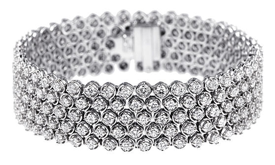 Multi Row Diamond Bracelet