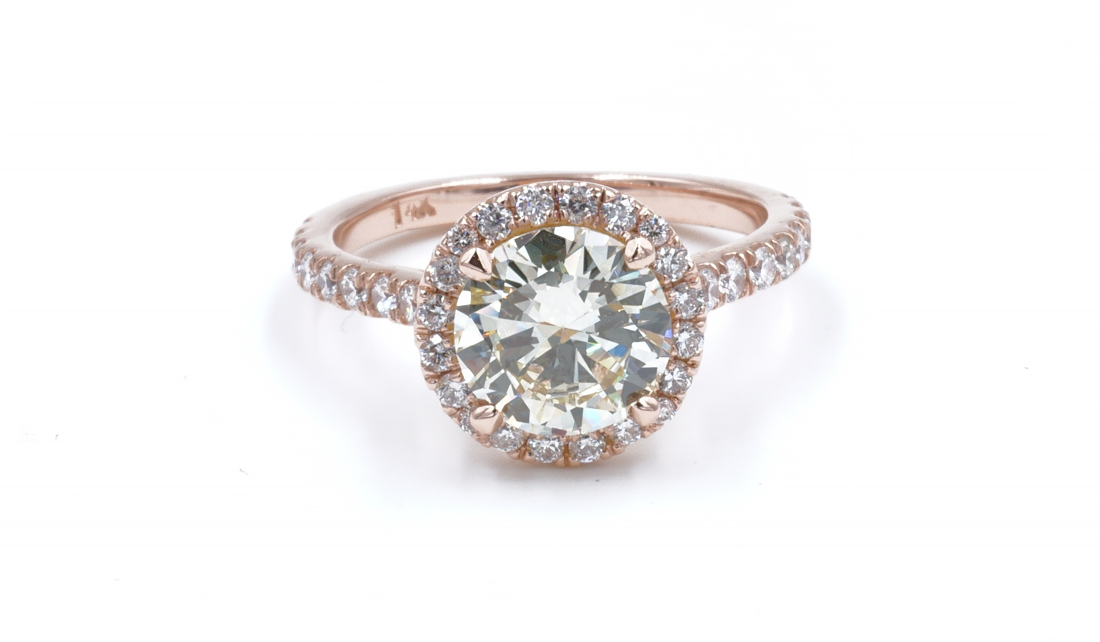 Halo Style Round Brilliant Cut Diamond Engagement Ring