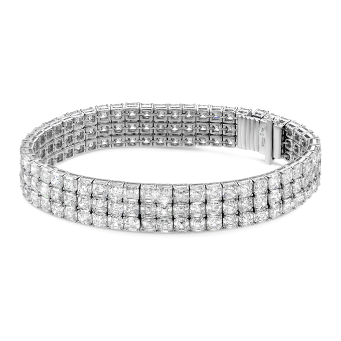 3 Row Asscher Cut Diamond Bracelet (Sample Picture)