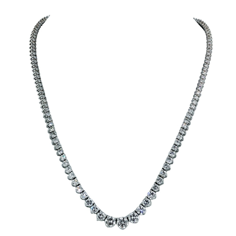 Diamond Riviera Style Necklace