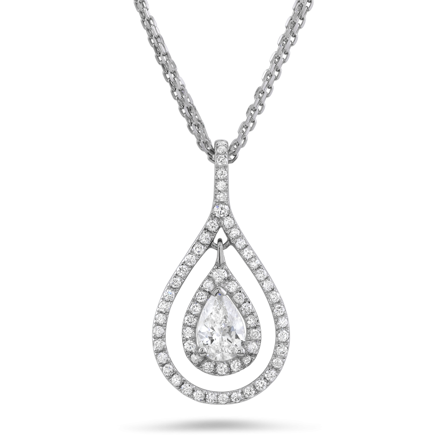 Pear Shape Diamond Necklace (Sample)