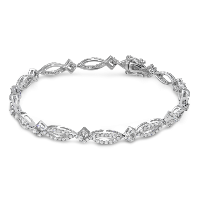 Diamond MQ and Square Style Bracelet (Sample)