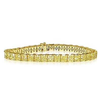 Fancy Yellow Radiant Cut Bracelet (Sample)