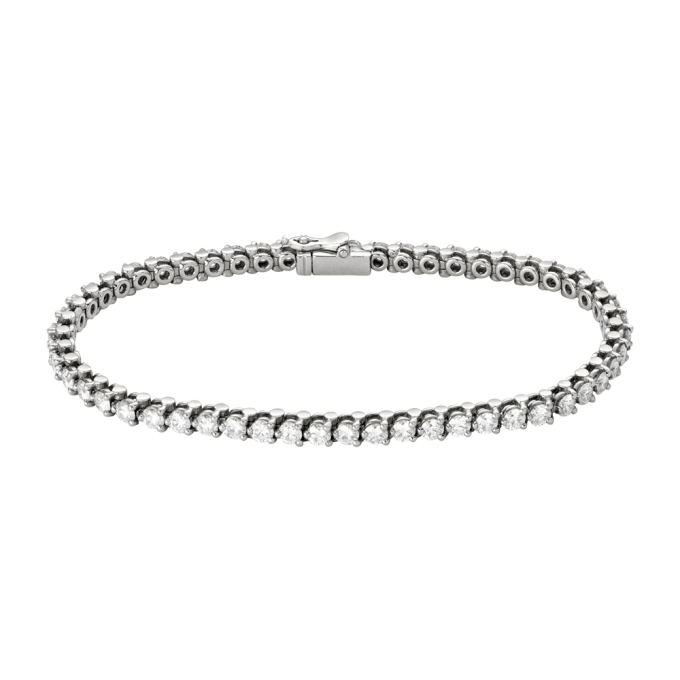 Round Cut Diamond Tennis Bracelet