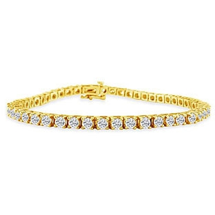 Round Brilliant Diamond Yellow Gold Bracelet (Sample)